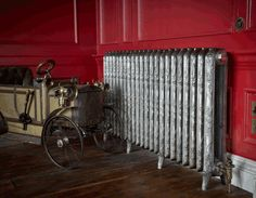Ribbon Cast Iron Radiator in a Hand Burnished finish. Other finishes are available. Copper Bath, Radiator Valves, Cast Iron Radiators, Architectural Antiques, Classic Style, It Cast, Victorian, Architecture, Lincoln
