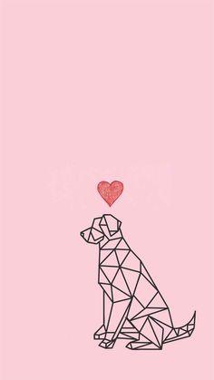 Imagem de dog, wallpaper, and background tapety w 2019 cute wallpapers, tum Dog Wallpaper Iphone, Cute Wallpaper Backgrounds, Tumblr Wallpaper, Pink Wallpaper, Disney Wallpaper, Screen Wallpaper, Mobile Wallpaper, Cute Wallpapers, Iphone Backgrounds