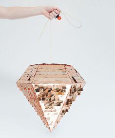 Look at this 16'' Metallic Copper Diamond Piñata on #zulily today!