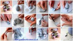 Modelling a Cute Baby Elephant cake or cupcake topper…by Patchworkcutter www. Baby Elephant Cake, Elephant Cake Toppers, Elephant Print, Elephant Stuff, Cake Decorating Techniques, Cake Decorating Tutorials, Africa Cake, Dumbo Cake, Christening Cake Girls
