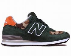 Joes New Balance US574M1 Ball And Buck Mountain Green Camo Military Camo Mens Shoes