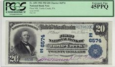 Turtle Creek, PA - Ch. 6574 - 1902 $20 Plain Back Purple signatures, original paper quality, and a fancy town name, that is a combination that very notes will ever possess. This is yet another high quality PA note that should be on a lot of wantlists.