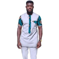 2018 Summer Mens African Clothing Plus Size African Clothes o-neck Mens Clothing for Men 2 Pieces Plus Size BRW African Shirts For Men, African Dresses Men, African Attire For Men, African Fashion Skirts, African Clothing For Men, African Men Fashion, African Wear, Custom Made Clothing, Womens Clothing Stores