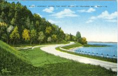 Traverse City, MI  Scenic Highway along the West Shore of Traverse Bay