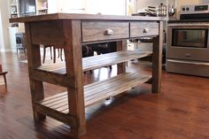 enchanting rustic kitchen cabinets creating glorious natural | Kitchen island, industrial butcher block style, reclaimed ...