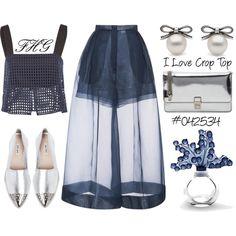 I Love Crop Top #042534 by fashionhuntergirl on Polyvore featuring 3.1 Phillip Lim, Delpozo, Miu Miu, Lalique, croptop, shade and summer2015