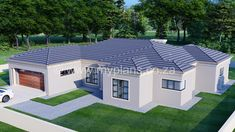 3 Bedroom House Plan – My Building Plans South Africa Round House Plans, Family House Plans, Dream House Plans, My Dream Home, Village House Design, Village Houses, My Building, Building Plans, House Plans South Africa