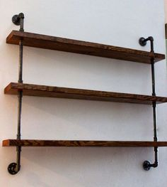 Industrial chic shelf