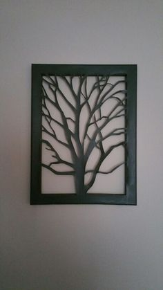 Cut canvas tree pattern. www.facebook.com/dhstringtheory