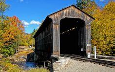 Clarks-Trading-Post-Railroad-Covered-Bridge Lincoln, New Hampshire