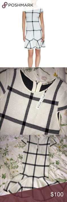 Alice + OliviaSelma Checkered-Knit Dress Brand new! This is a classic comfort dress. Soo iconic and stunning on. You will be so comfy and so stylish!! Alice + Olivia Dresses Midi