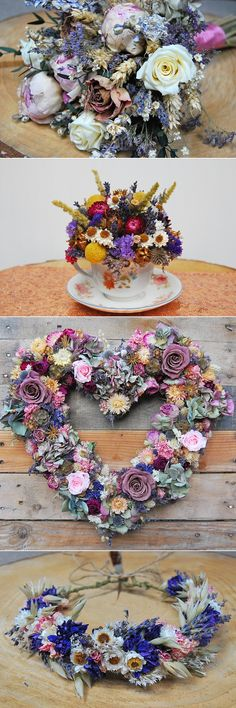 Alternative Wedding Flower Ideas Dried Lotus Floral Art | For full list of image credits please see the blog feature on the website.