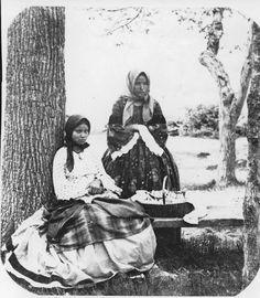 Iroquois (Tuscarora) women - circa 1860 civil war era fashion