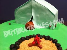 Bear Tent Cake By: Brittney Mitchell BritBratBakes.com