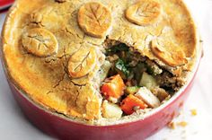 Gluten-free chicken and vegetable pie. Includes methods to make it a FODMAP diet. More recipes included.