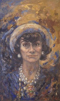 Portrait of Coco Chanel painted by artist Marion Pike will go on show at ‪#‎London‬ College
