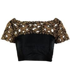 Buy Black dupion_silk blouse blouse-fabric online