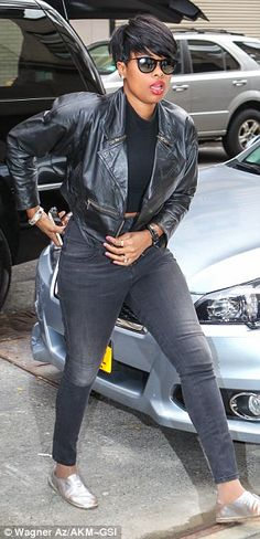 Twice as nice: Jennifer Hudson displayed her street style in two different outfits on Wedn...
