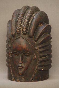 Bassa Bundu helmet mask from Liberia, early 20th c
