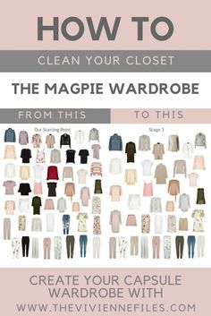How to declutter your wardrobe using the color method to build a capsule wardrobe.