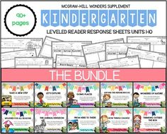 Updated!!! Bundle: McGraw-Hill Wonders Units 1-10 Leveled Reader Response for Kindergarten Small Groups and/or Literacy Centers