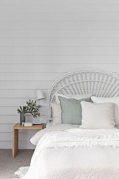 A stunning coastal bedroom from Small Room Bedroom, Bedroom Wall, Bedroom Decor, Bedroom Ideas, Master Bedroom, Bedroom Makeovers, Bedroom Styles, Teen Bedroom, Bedroom Inspo
