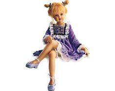 Jan McLean doll    Purple and legs