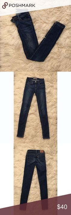 5bacb99dd484 Levi s Dark Wash 710 Super Skinny