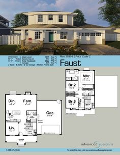 80 best 2 Story House Plans images on Pinterest | Story house, Floor Craftsman Exterior House Design El E A on