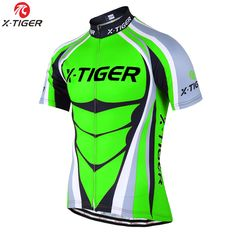 X-TIGER 2017 Flour Green Breathable Cycling Jersey Summer MTB Bicycle Clothing Ropa Ciclista MTB Bike Clothes Maillot Ciclismo