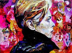"Saatchi Art Artist EA Kennedy; Collage, ""Starman"" #art"