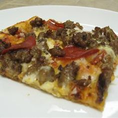 Going to try this for Lobster Flat Bread! Bread Machine Thin Crust Pizza Dough Allrecipes.com