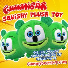 Introducing the NEW Gummibär (The Gummy Bear) Squishy Plush Toy!  This squishy plush toy is a BLAST to squeeze, toss, catch, and cuddle! Best of all, it fits into the palm of your hand, so you can take your Gummibär Squishy Plush Toy on all of your trips for hours of fun! Give it as a Birthday party favor, an Easter Basket Stuffer, or as a Birthday gift for your favorite Gummibär fan! Birthday Party Favors, Birthday Gifts, Shops, Palm Of Your Hand, Gummy Bears, Easter Baskets, Cuddle, Your Favorite, Wolf