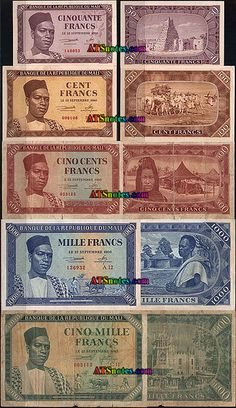 mali currency | Mali banknotes - Mali paper money catalog and Malinese currency ...
