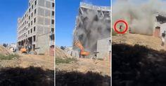 OMG, diese Typen werden vor laufender Kamera von einem Haus begraben!