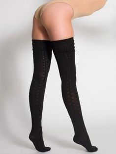 d03c1af0216 American Apparel - Chain-Link Solid Thigh-High Socks (have in black)