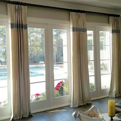 Window Treatment Ideas For Very Large Windows and Pics of Window Treatment Ideas For Man Cave. House Blinds, Blinds For Windows, Window Blinds, Fabric Blinds, Drapes Curtains, Curtain Trim, Drapery Fabric, Window Coverings, Window Treatments