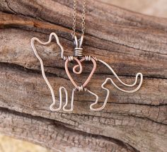 Cat Necklace Sterling Silver Cat Outline by Karismabykarajewelry