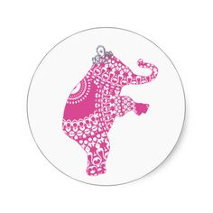 Cute Pink Princess Elephant Children's Stickers, these are so pretty I am sure your little girl will love using these. Why note customise them with your child's name. #cute #elephant #pink #princess #stickers #personalised #girl's #craft #stuff #kids #craft #toys #play #stuff #animals #safari #nature #mammal #illustration #zoo #trunk #cartoon #character #big #animal #cheerful #ears #fat #adorable