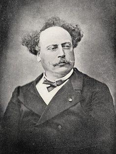 Alexandre Dumas Fils (1824-95) (b/w photo) Ken Welsh Private Collection Bridgemanart.com