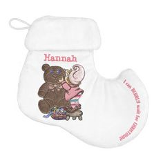 I Can BEARLY Wait For Christmas Personalized Stocking - http://www.zazzle.com/bearly_wait_for_christmas_personalized_stocking-256569344842480570?rf=238575087705003771