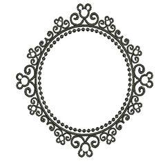 MOLDURA DISNEY 14 CM Flower Frame, Disney, Machine Embroidery, Embellishments, Diamond, Flowers, Jewelry, Silhouettes, Board