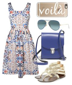 """""""Color Me Cobalt"""" by hartyourcloset on Polyvore featuring Casetify, True Decadence, Ray-Ban and Madewell"""