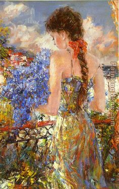 Misti Pavlov - Reminicing Balcony painting
