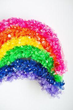 Ooooooh - how to make a crystallized rainbow.