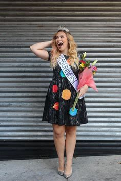 DIY Miss Universe Halloween Costume Solar System Dress Discover Cotton