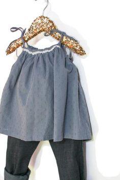 add26d4036cd4 Patron de couture Blouse à nouettes Bébé Fille COPENHAGEN – ikatee Little  Girls