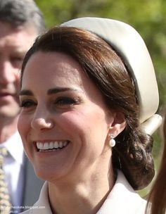 The Duke and Duchess of Cambridge joined the Queen and members of the Royal family for Easter Service at St George's Chapel at Windsor Cast...