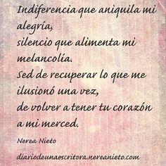Indiferencia… #poesía #poema #cita #frase #amor #desamor