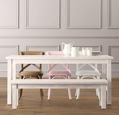 cafe rectangular play table $259 love the neopolitan chairs